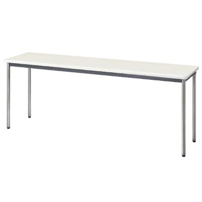 会議用テーブル ソフトエッジ 幅1800 奥行450 ニューグレー