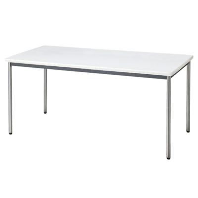 会議用テーブル ソフトエッジ 幅1500 奥行750 ホワイト