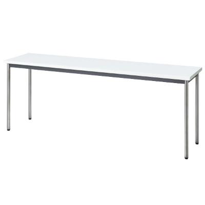 会議用テーブル 幅1800 奥行450 ホワイト