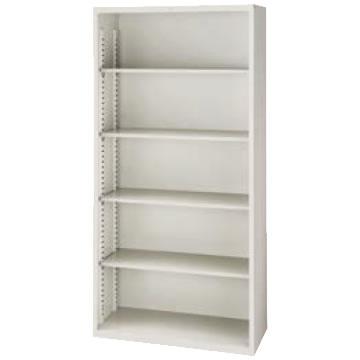 A4判対応 オープン書庫 高さ1860 ウォームホワイト