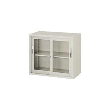 A4判対応 引違い書庫 ガラス戸 幅880 高さ750 ウォームホワイト