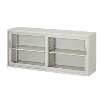 A4判対応 引違い書庫 ガラス戸 幅1760 高さ750 ウォームホワイト
