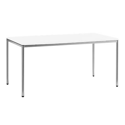 トレッセR 幅1500奥800テーブル 丸脚 ホワイト