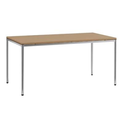 トレッセR 幅1500奥800テーブル 丸脚 ネオウッドミディアム