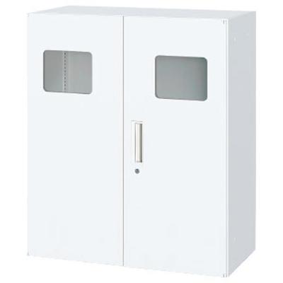トラッシュボックス 下置 鍵付 ホワイト幅900×奥行450×高さ1050mm