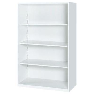 オープン書庫 下置 ホワイト幅900×奥行450×高さ1400mm