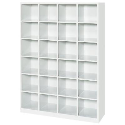 オープンシューズボックス 4列6段24人用 ホワイト