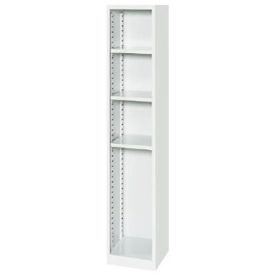 オープンシューズボックス 1列・可動棚タイプ ホワイト