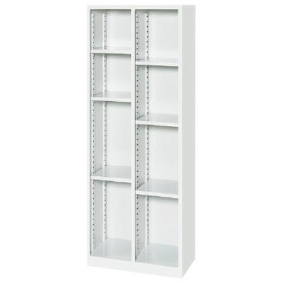 オープンシューズボックス 2列・可動棚タイプ ホワイト