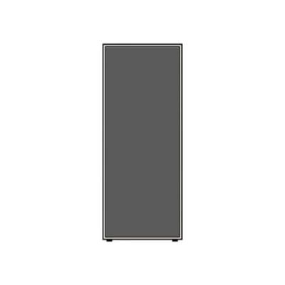 ローパーテーションLPEシリーズ 高さ1860mm 幅700mm チャコール