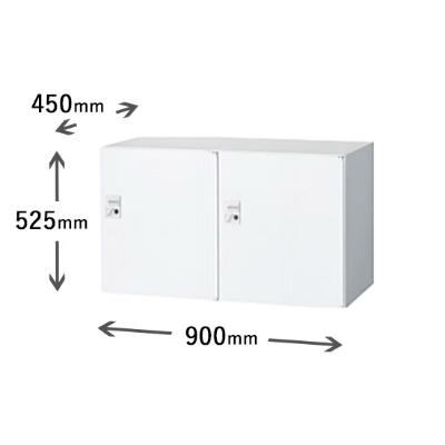 2列1段パーソナルボックス ダイヤル錠 ホワイト