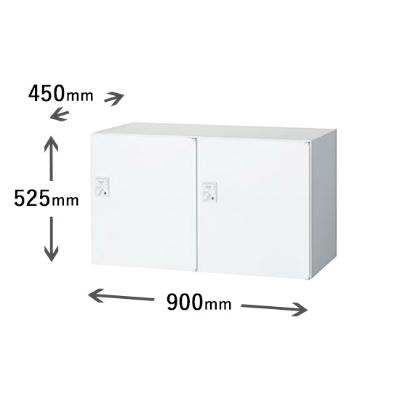 2列1段パーソナルボックス IC錠 ホワイト