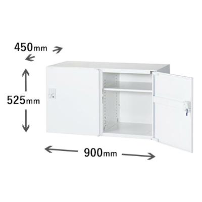 2列1段パーソナルボックス 自動施錠ボタン錠 ホワイト