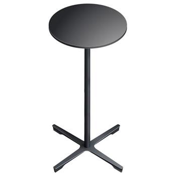 nel ミーティングハイテーブル 直径450丸天板 type-B ブラック
