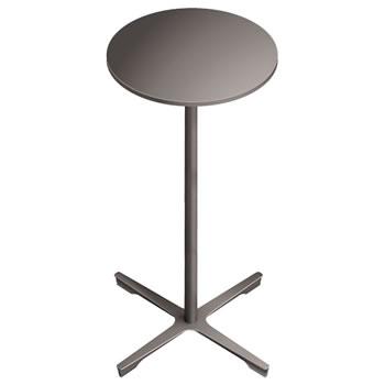 nel ミーティングハイテーブル 直径450丸天板 type-B グレージュ