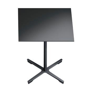nel ミーティングテーブル 750四角天板 type-B ブラック