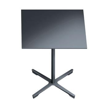 nel ミーティングテーブル 750四角天板 type-B ダークグレー