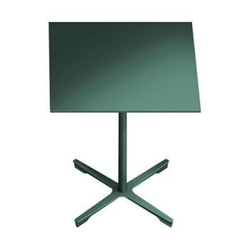 nel ミーティングテーブル 750四角天板 type-B ダークグリーン