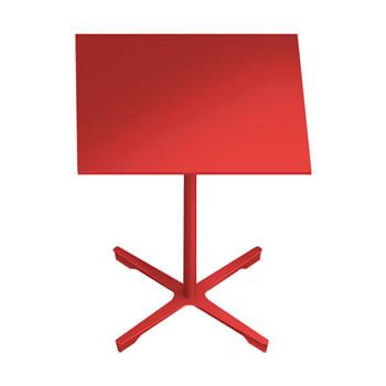 nel ミーティングテーブル 750四角天板 type-B オレンジレッド