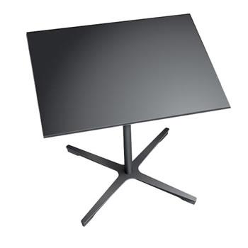 nel ミーティングテーブル 900四角天板 type-B ブラック