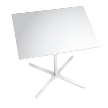 nel ミーティングテーブル 900四角天板 type-B ネオホワイト