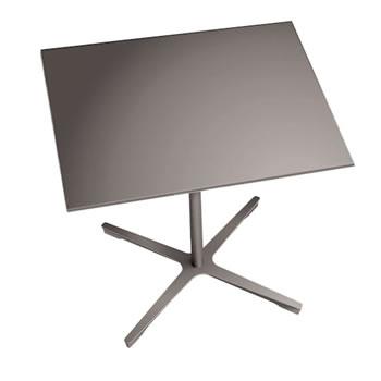 nel ミーティングテーブル 900四角天板 type-B グレージュ