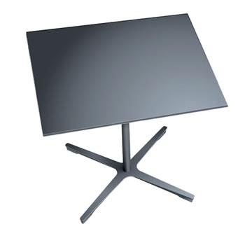 nel ミーティングテーブル 900四角天板 type-B ダークグレー