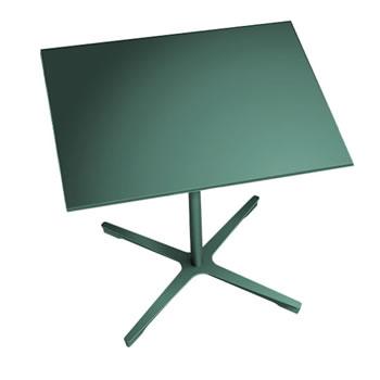 nel ミーティングテーブル 900四角天板 type-B ダークグリーン