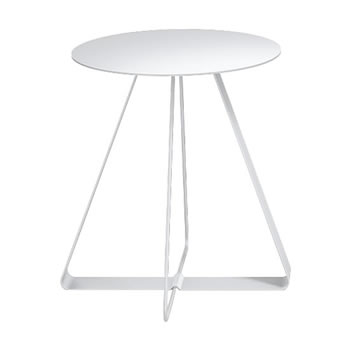 nel カフェテーブル 丸天板 type-A ネオホワイト