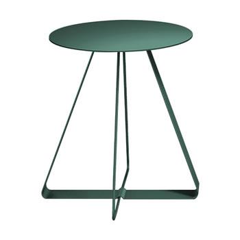 nel カフェテーブル 丸天板 type-A ダークグリーン