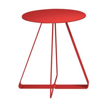 nel カフェテーブル 丸天板 type-A オレンジレッド