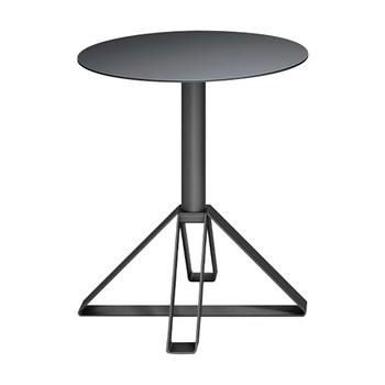 nel カフェテーブル 丸天板 type-B ブラック