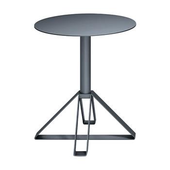 nel カフェテーブル 丸天板 type-B ダークグレー