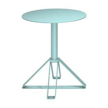 nel カフェテーブル 丸天板 type-B セージ