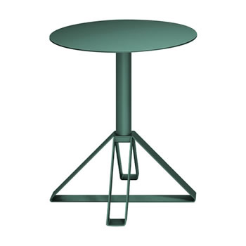 nel カフェテーブル 丸天板 type-B ダークグリーン