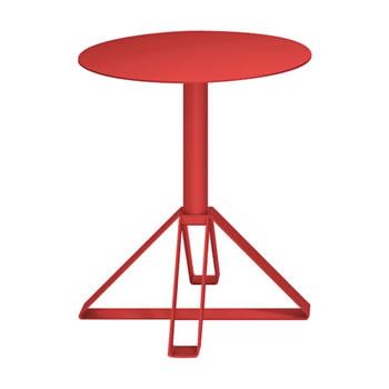 nel カフェテーブル 丸天板 type-B オレンジレッド