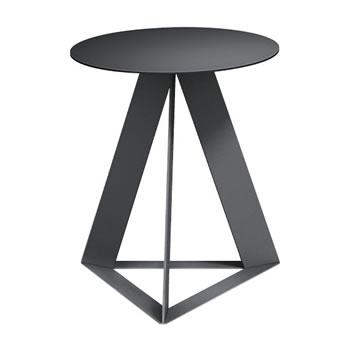 nel カフェテーブル 丸天板 type-C ブラック