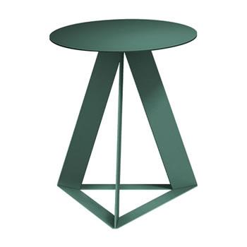 nel カフェテーブル 丸天板 type-C ダークグリーン