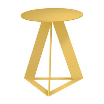 nel カフェテーブル 丸天板 type-C イエロー