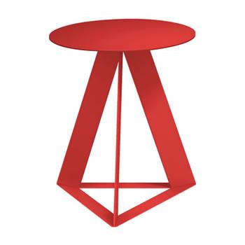 nel カフェテーブル 丸天板 type-C オレンジレッド