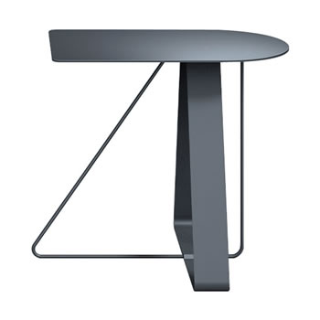 nel カフェテーブル オーバーハング天板 type-A ダークグレー