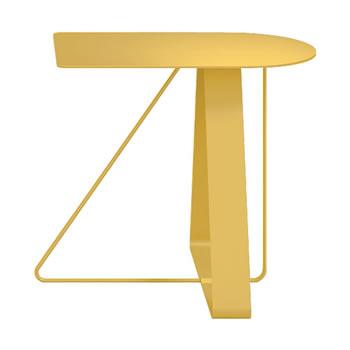 nel カフェテーブル オーバーハング天板 type-A イエロー