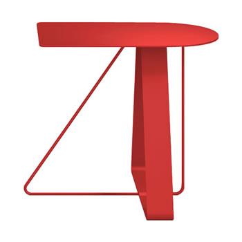 nel カフェテーブル オーバーハング天板 type-A オレンジレッド