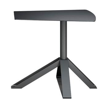 nel カフェテーブル オーバーハング天板 type-B ブラック