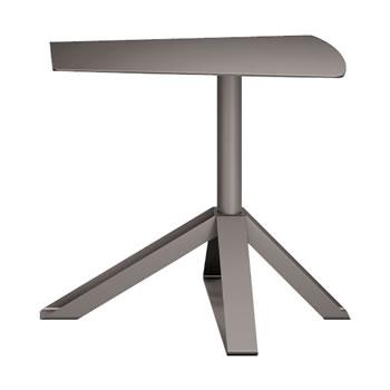 nel カフェテーブル オーバーハング天板 type-B グレージュ