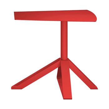 nel カフェテーブル オーバーハング天板 type-B オレンジレッド