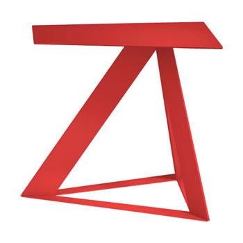 nel カフェテーブル オーバーハング天板 type-C オレンジレッド