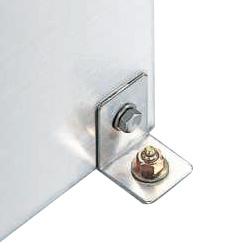 ステンレス保管ユニット用床固定金具