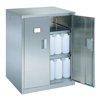 ステンレス薬品保管庫 両開き戸 幅710 高さ900
