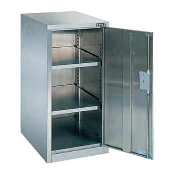 ステンレス薬品保管庫 片開き戸 幅710 高さ900